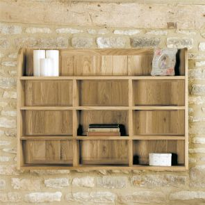 Boston Oak Reversible Wall Rack