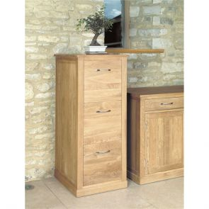 Boston Oak 3 Drawer Filing Cabinet