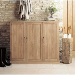 Boston Oak Extra Large Shoe Cupboard
