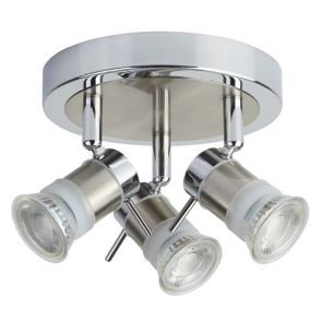 (Gu10 Led) Ip44 3 Light Cc Round Spotlight Plate BPOSL1199