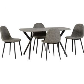 Zante Table + 4 Chairs Set