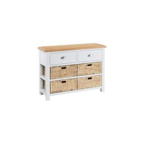 Hampshire Dining Large Console Table with 2 Drawers and 4 Baskets
