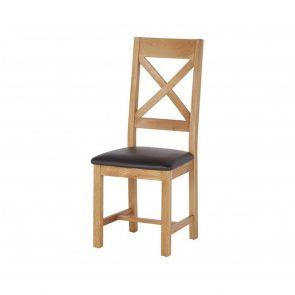 Oakhampton  Cross Back Chair With Pu Seat
