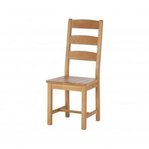 Oakhampton  Slatted Chair With Wooden Seat