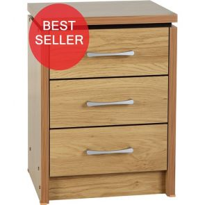 Bridford 3 Drawer Bedside Chest