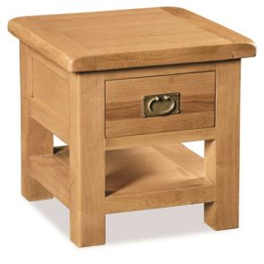 Oakhampton Dining Lamp Table With Drawer