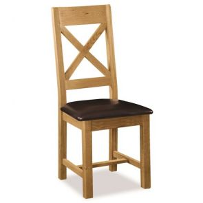 Oakhampton Dining Cross Back Chair With Pu Seat
