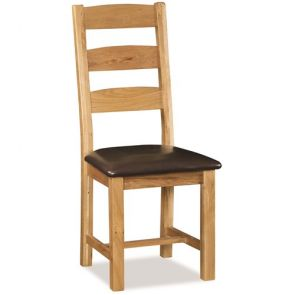 Oakhampton Dining Slatted Chair With Pu Seat
