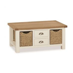 Tamworth Large Coffee Table With Baskets