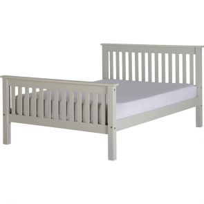 Newquay 4'6 Double Grey Bed Frame HFE