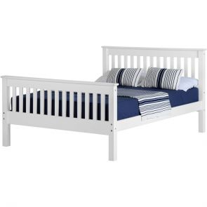 Newquay 5' Kingsize White Bed Frame HFE