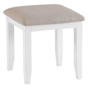 Fairford White Bedroom Stool