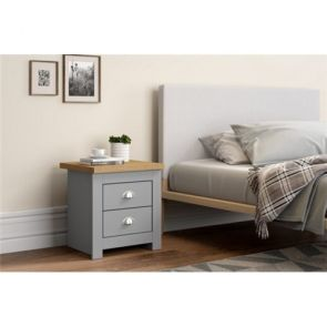 Warwick Bedroom 2 Drawer Bedside