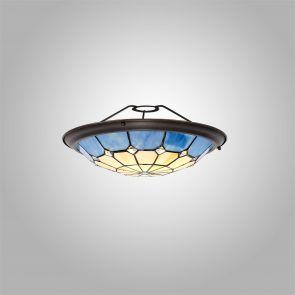 Alysia, 35cm Non-electric  Shade, Crachel/Rich Blue/Clear Crystal Centre IL8327H