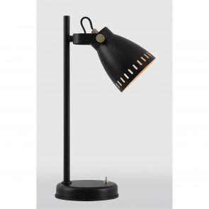 Beah Adjustable Table Lamp, 1 x E27, Matt Black/Antique Brass/Khaki IL3277HS
