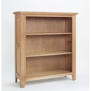 Kingsbridge Dining Low Wide Oak Bookcase