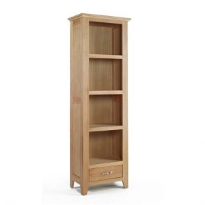 Kingsbridge Dining Tall Narrow Oak Bookcase