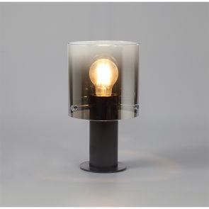 Brita Table Lamp, 1 Light Table Lamp E27, Black/Smoke Fade Glass IL4957HS