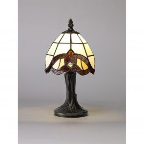 Carly Table Lamp, 1 x E14, Crachel/Amber/Clear Crystal Shade IL4217HS