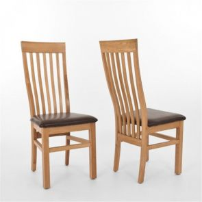 Kingsbridge Dining Oak Dining Chair With Leather Pad