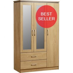 Bridford 3 Door Gents Wardrobe
