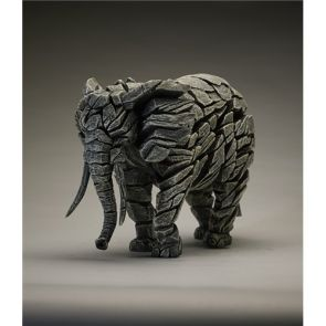 Edge Sculpture Elephant White