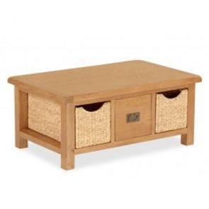 Oakhampton Large Coffee Table With Baskets
