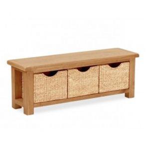 Oakhampton Bench with Baskets