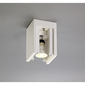 Ivy Square Ceiling, 1 x GU10 (Max 25W), White Paintable Gypsum IL9317HS