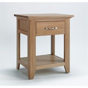 Kingsbridge Dining Oak Lamp Table With Drawer