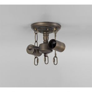 Marina Semi Ceiling Kit, 2 x E27, Ant Brass IL0927HS