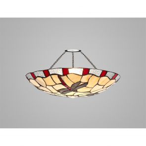Olivia 35cm Non-electric  Shade, Red/Crachel/Clear Crystal IL5527HS