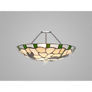 Olivia 35cm Non-electric  Shade, Green/Crachel/Clear Crystal IL7527HS
