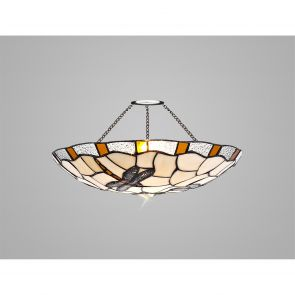 Olivia 35cm Non-electric  Shade, Amber/Crachel/Clear Crystal IL8527HS