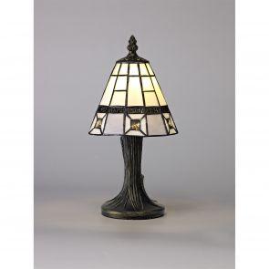 Scarlet Table Lamp, 1 x E14, Crachel/Grey/Clear Crystal Shade IL0327HS