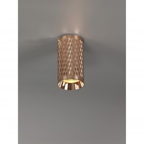 Sienna 11cm Surface Mounted Ceiling Light, 1 x GU10, Rose Gold IL7108HS