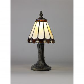 Una Table Lamp, 1 x E14, Crachel/Brown/Clear Crystal Shade IL1327HS