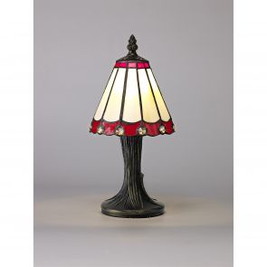 Una Table Lamp, 1 x E14, Crachel/Red/Clear Crystal Shade IL2327HS