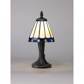 Una Table Lamp, 1 x E14, Crachel/Blue/Clear Crystal Shade IL3327HS