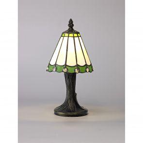 Una Table Lamp, 1 x E14, Crachel/Green/Clear Crystal Shade IL5227HS