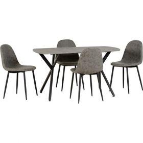 Zante Table + 4 Chairs Set