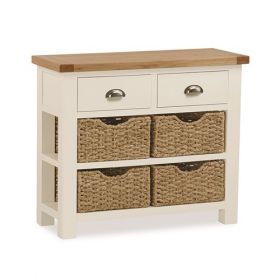 Tamworth Console Table With Baskets