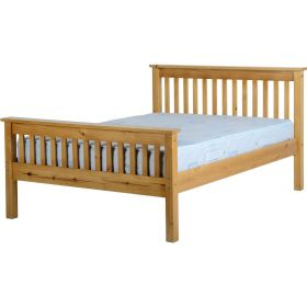 Newquay 4'6 Double Antique Pine Bed Frame HFE