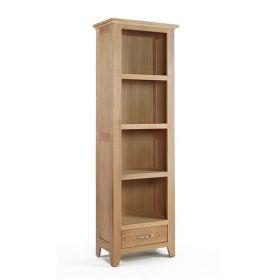 Kingsbridge Dining Tall Narrow Oak Bookcase