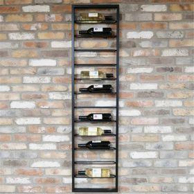 Industrial Wine Wall Rack