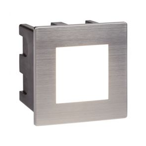 Led Indoor/Outdoor Recessed Square, Stainless Steel, Opal White Diffuser BPOSL01
