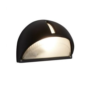 Led Outdoor & Porch - Half-Moon Wall Bracket, Black, Frosted Glass BPOSL007