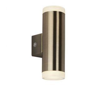 Led Outdoor 2lt & Porch Wall Light, Antique Brass BPOSL382