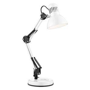 Desk Partners - Shiny White Hobby Table Lamp BPOSL448