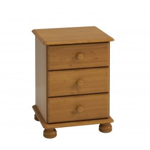 Thornton Pine 3 Drawer Bedside